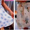 ヘザー、ウィゴー、ニコアンドの、花柄スカート・Tシャツ・ガウチョなど人気服と、オフショルダートップスの着こなし!ヒルナンデス7月16日